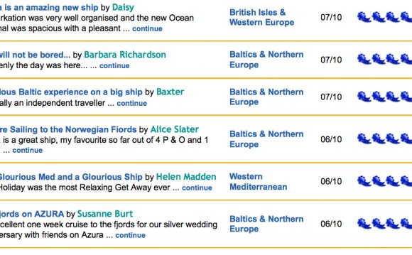 P&O S Azura gets mostly raves