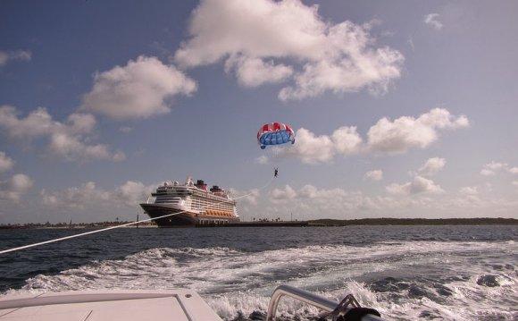 Parasailing on Castaway Cay