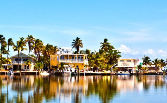 Colorful houses in key west
