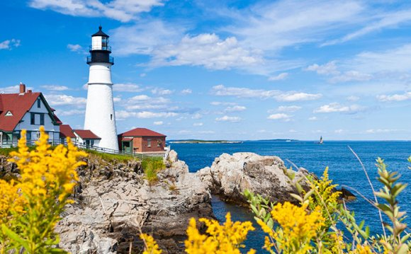 Portland head lighthouse in