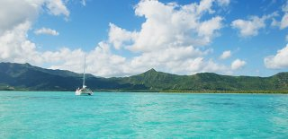 Sail the turquoise water of St. Maarten aboard a catamaran