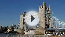 Cruise Ship Passing Under Tower Bridge in London in 4K